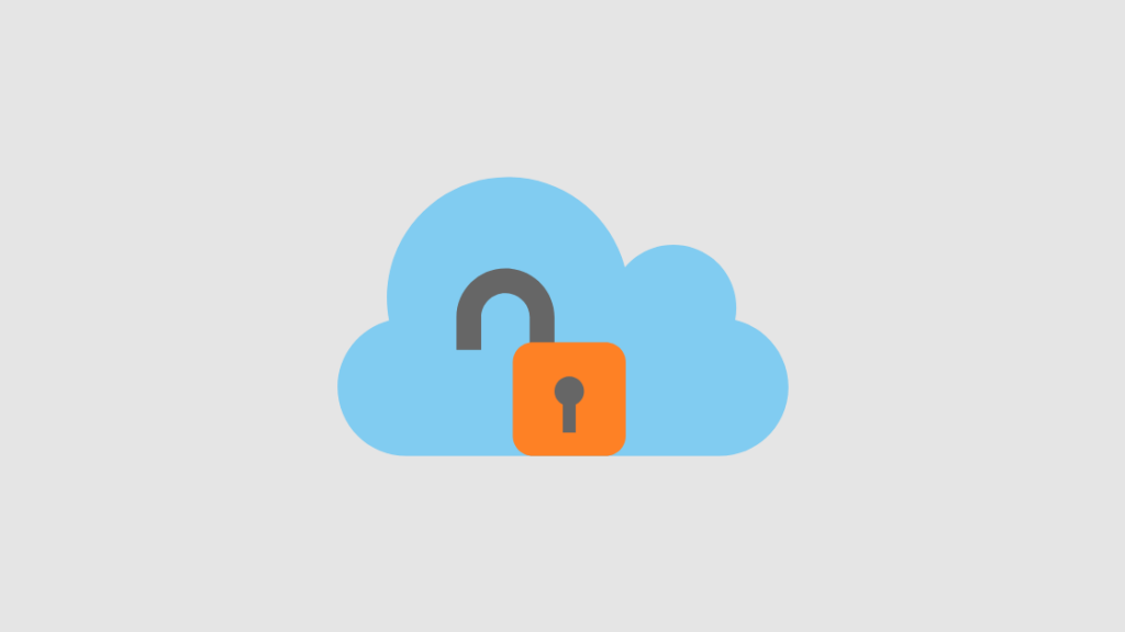 Cloud with open lock