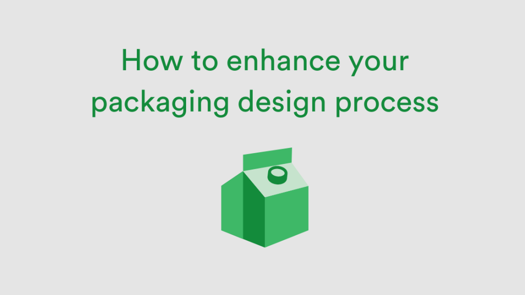 Image of green 3D packaging like milk carton
