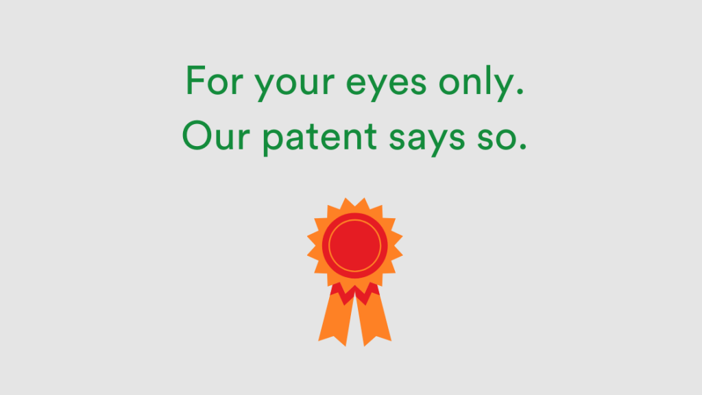 Patent-for-your-eyes-only with badge