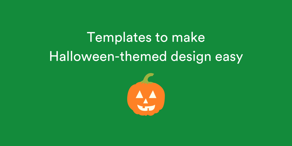 Canva has a range of Halloween themed designs to choose from