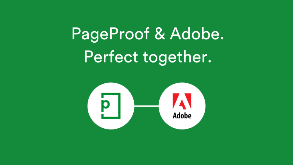 PageProof and Adobe logos linked